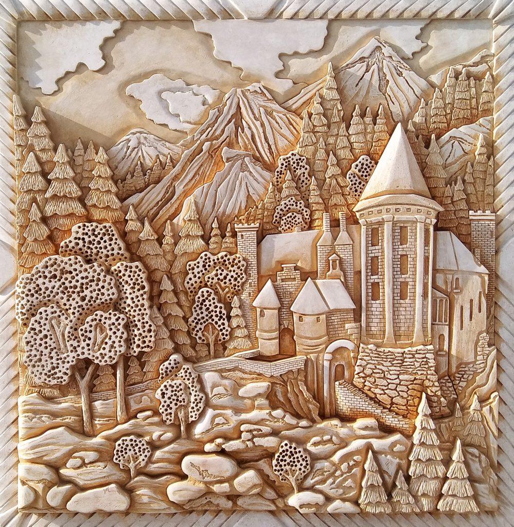 Средневековый замок в Альпах